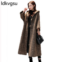 Long Winter Coat Women Plus Size Windbreak Jacket Korean New Cotton Velvet Coat Oversized Female Casual Hooded Cardigan f026