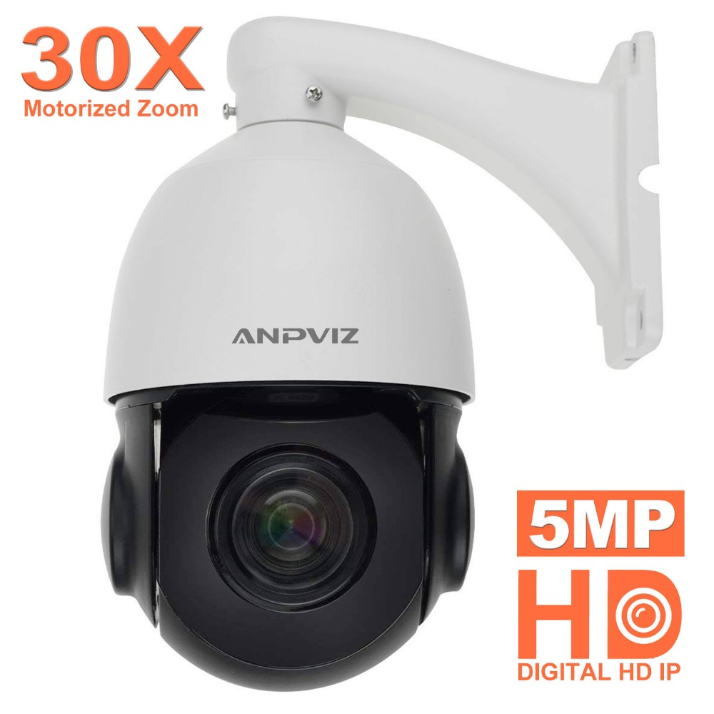 fab3d2ecfed Anpviz 4.5 Inch 5MP IP PTZ Camera Outdoor Motorized 4.7-94mm Speed Dome 30X Zoom  Speed Dome Surveillance Camera CCTV 30m IR P2P