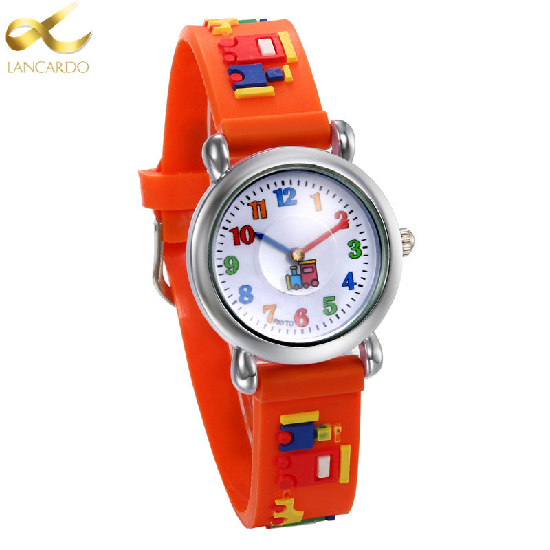 Children watch fashion lancardo brand watches quartz wristwatches waterproof jelly kids clock for Watches brands for girl