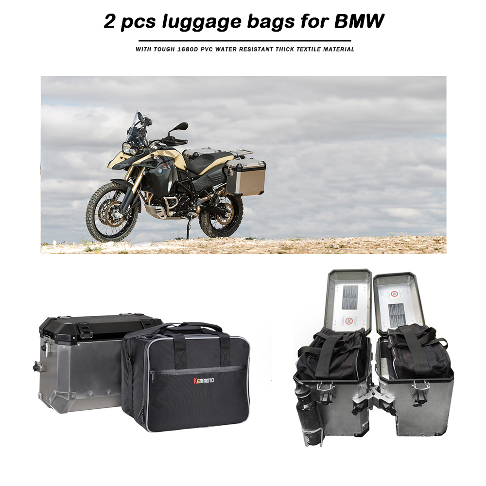 KEMiMOTO Motorcycle Bag Saddle Inner Bags PVC luggage bags For BMW R1200GS Adv WATER-COOLED r1200 gs F800GS Adventure 2013-2017KEMiMOTO Motorcycle Bag Saddle Inner Bags PVC luggage bags For BMW R1200GS Adv WATER-COOLED r1200 gs F800GS Adventure 2013-2017