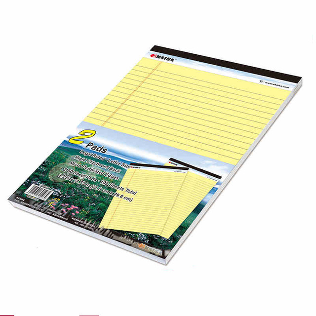 Hot Yellow Writing pad USA style Memo Pad A4 2PCS*50 sheets Legal pad Easy tear line Office School Supplies Notepad memo pads