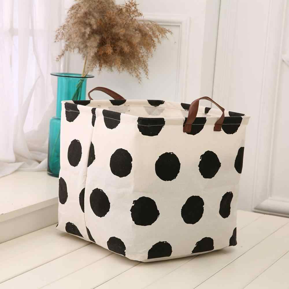 Large Waterproof Folding Laundry Basket Clothes Storage Barrel Standing Kids Toys Storage Bucket Laundry Basket Organizer @15