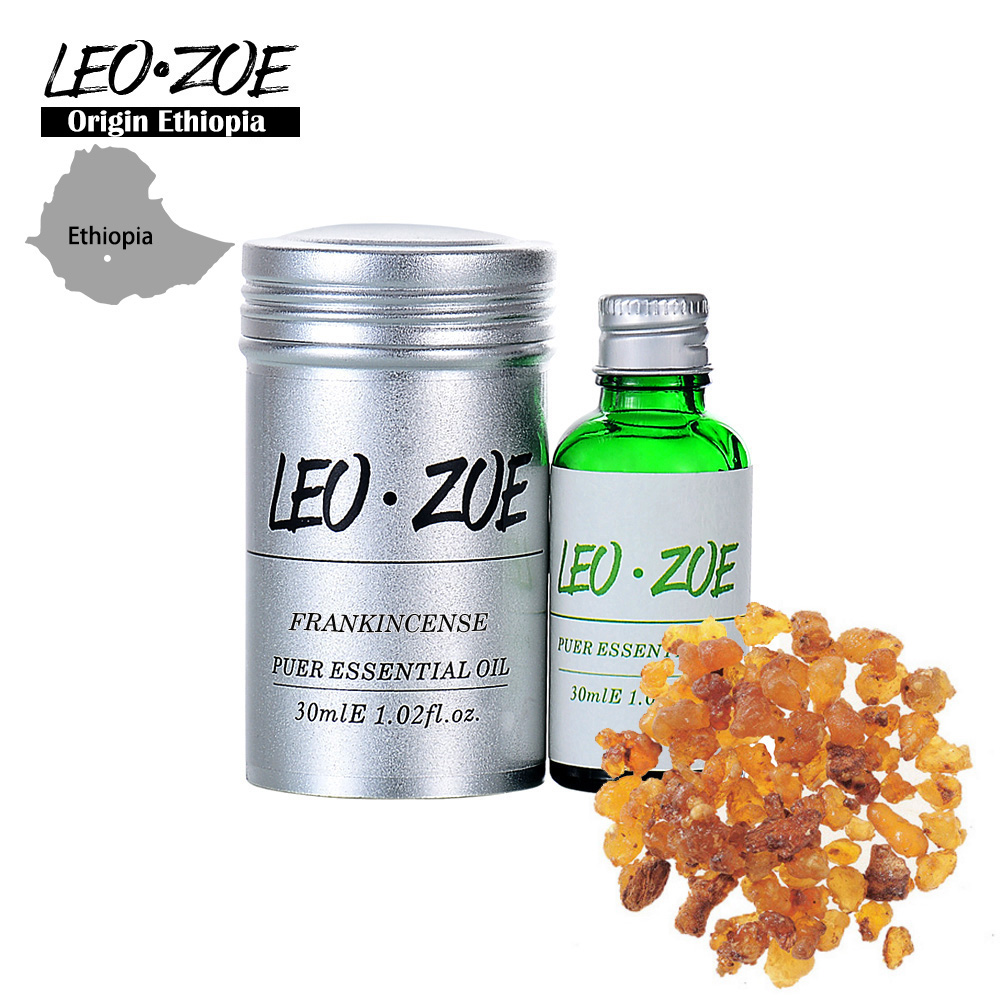 Well-Known Brand LEOZOE Frankincense Essential Oil Certificate Of Origin Ethiopia Authentication Frankincense Oil 30ML frankincense and myrrh 4x6 pillar candles