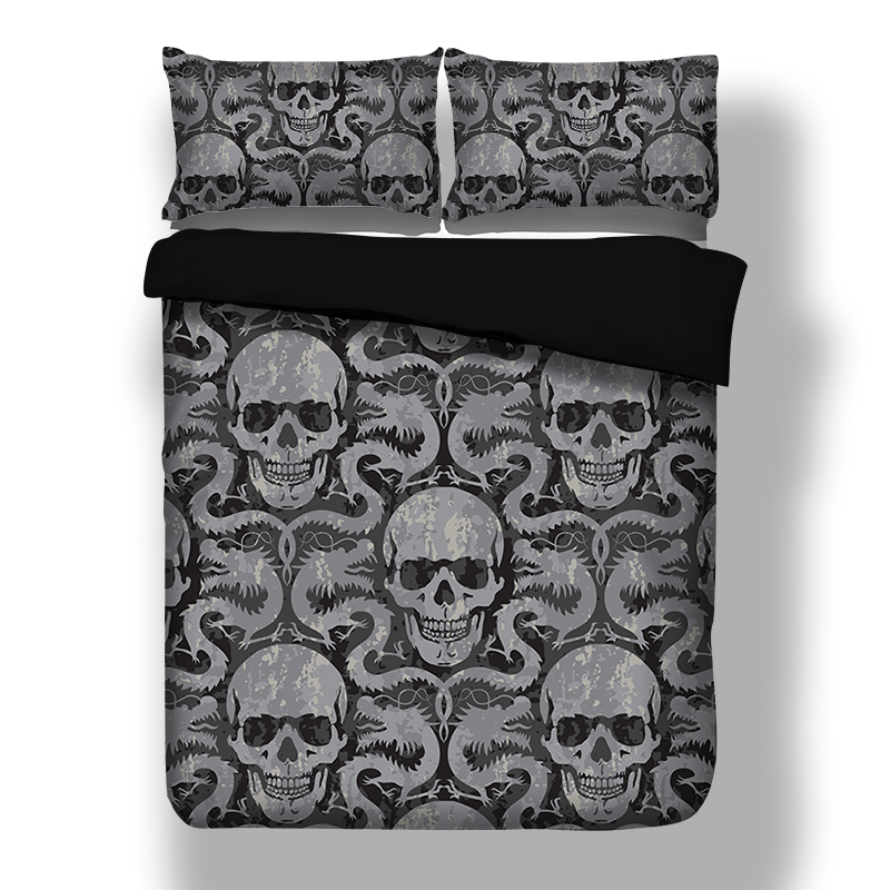 Dragon Skull Duvet Cover Quilt Cover With Pillowcases Twin Full Queen King UK Double CN Queen Bedding Set Beddingclothes