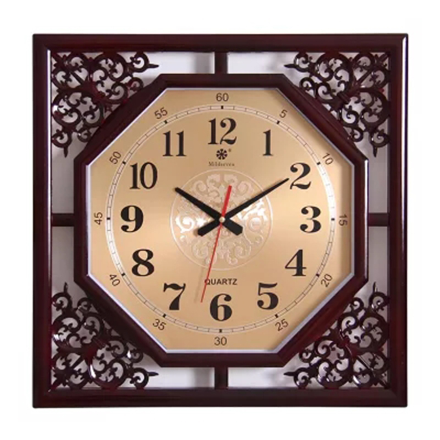 Large 3d Creative Natural Wood Wall Clock Square Modern Design Vintage Nordic Kitchen Clock Klok Wall Clocks Home Decor 50CW338