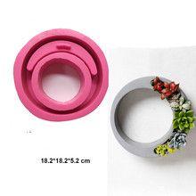 купить Big Concrete Planter Pen Rack Holder Mold Desktop Craft Decoration flowerpot silicone mold creative home ornament gift mould дешево