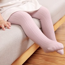 kids tight for spring and autumn  soft combed cotton five colors girl pantyhose baby 0-3year