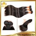 Малайзии натуральные волосы прямой 4 шт малайзии человеческий волос переплетения, Необработанные 6а прямой натуральные волосы 8 - 30 дюймов наращивание волос