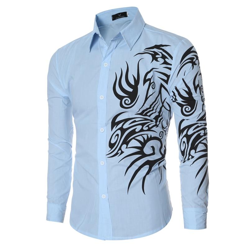 Мужская рубашка 2017 Slim Fit