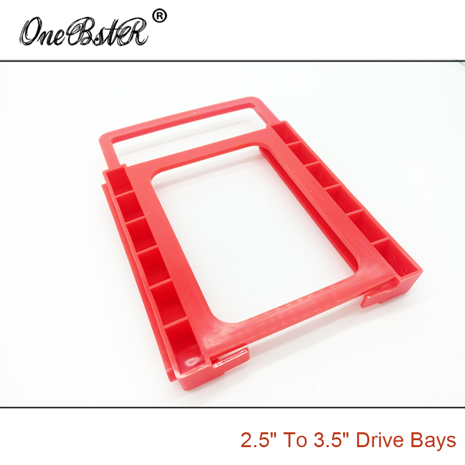"Image 3 - 2.5"" SSD Hard Drive To 3.5"" Bay HDD Mounting Plastic Bracket Dock Tray Adapter Screw free Installation Easy free shipping-in 3D Printer Parts & Accessories from Computer & Office"