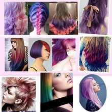 Recommend Beauty Women Hair Color 12 Colors Hair Dye Color Temporary Non-toxic DIY Hair Cream Fashion Party Dye Pen
