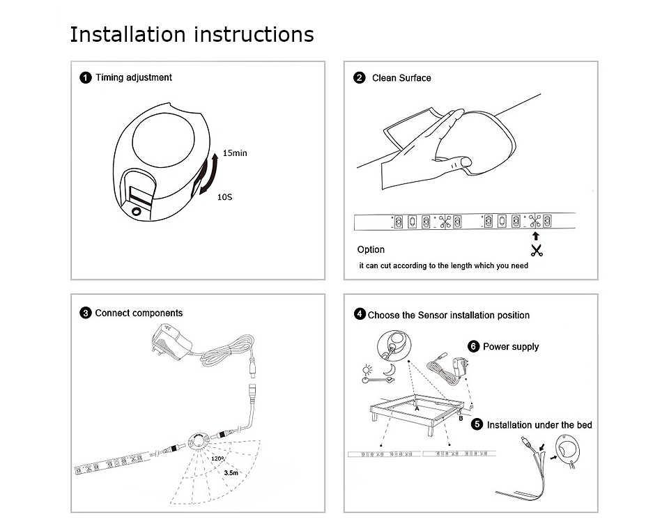 1 M-10 M inteligentny włącz OFF czujnik ruchu PIR Port taśmy LED Flexiable klej lampa taśmy do szafy schody szafki kuchenne
