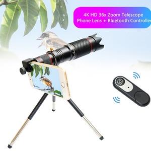 Image 5 - 유니버설 4K 36x 줌 휴대 전화 망원경 렌즈 망원 외부 스마트 폰 카메라 렌즈 아이폰 Sumsung 화웨이 모든 전화