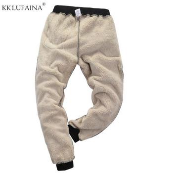 Męskie zimowe Super ciepłe spodnie poza polarem biegaczy zagęścić spodnie dresowe ciężkie spodnie z zamkiem Streetwear mężczyźni L 6XL 7XL 8XL tanie i dobre opinie Na co dzień Przycisk fly Plisowana Pełnej długości COTTON spandex REGULAR