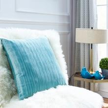 Soft Stripe Velvet Pillow Cover