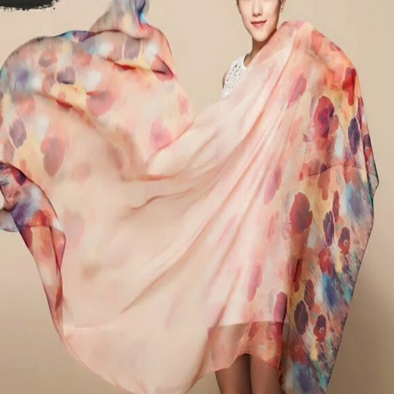 Big size fashion 100% Real Mulberry SILK   SCARF     wrap   shawl sarongs Silk Neckerchiefs 180*110cm MIXED 10 pcs/lot #4103
