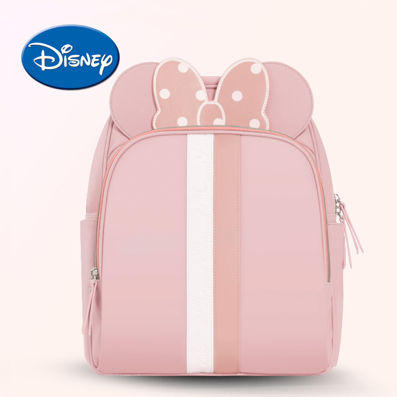 Disney USB Heating Diaper Bag Fashion Mummy Maternity Nappy Bag Large Capacity Baby Travel Backpack Designer