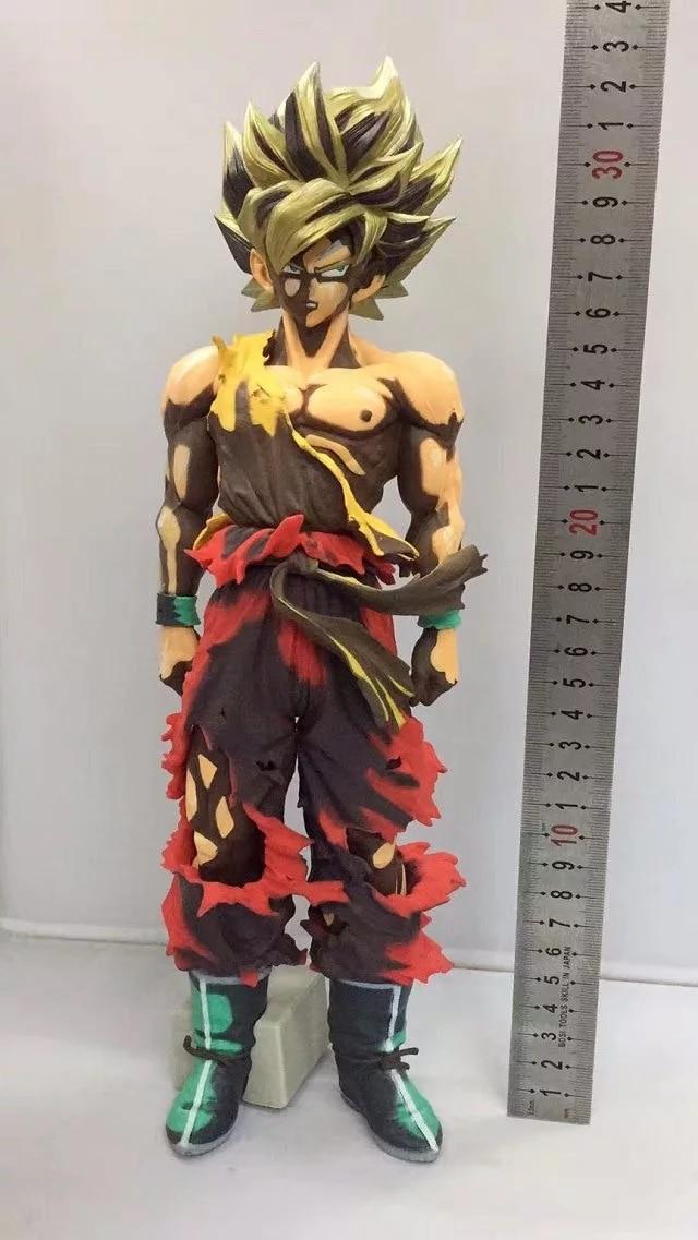 Free Shipping 12 Dragon Ball Anime Super Saiyan Son Goku Gokou SMSP Conics Ver. Boxed 32cm PVC Action Figure Collection Model classic anime dragon ball son goku figurine gokou drink water ver pvc collection model figure 20cm