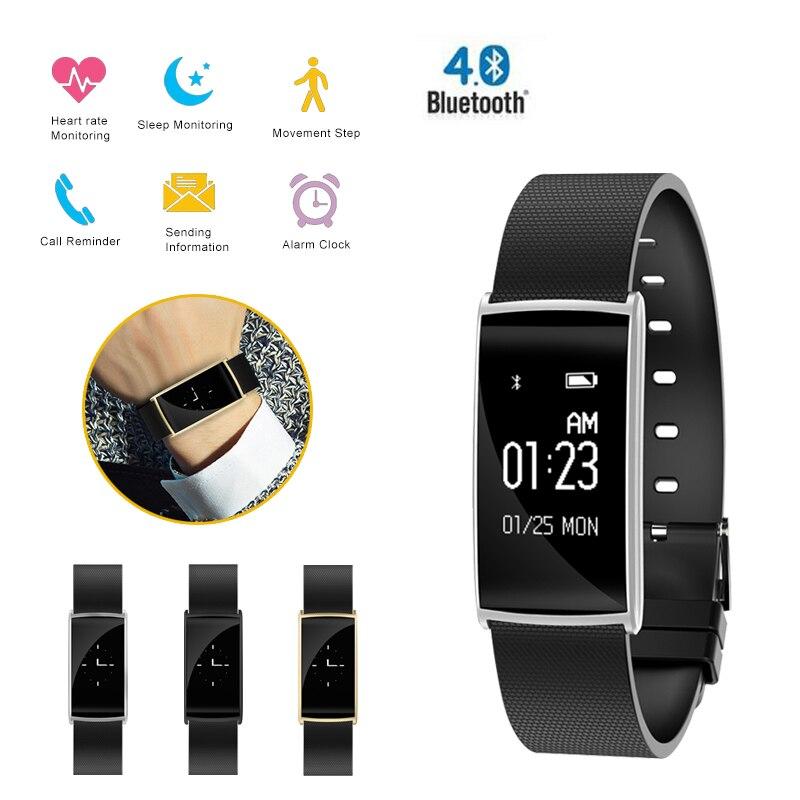 Classique smart watch Coeur ratePedometer Sport Dispositifs Portables numérique montre top Respirant bracelet en silicone smart watch hommes femme