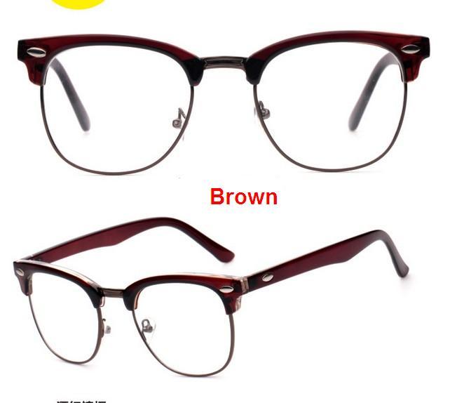 J47 prekės ženklo dizaineris akinių rėmelis pusiau metalinis - Drabužių priedai - Nuotrauka 4
