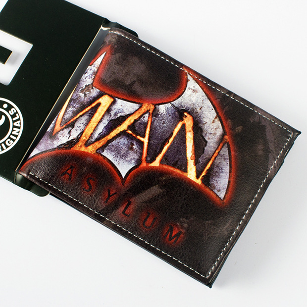 Comics DC Marvel Batman Wallets Leather Anime Credit Card Bags 11.5 cm Portable Purse Men Casual Wallet