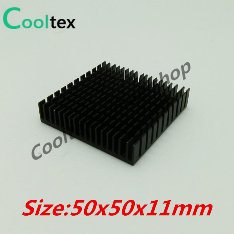 (Special offer)  2pcs/lot  50x50x11mm Aluminum  HeatSink  Heat Sink radiator  for electronic Chip LED RAM COOLER cooling high power pure copper heatsink 150x80x20mm skiving fin heat sink radiator for electronic chip led cooling cooler