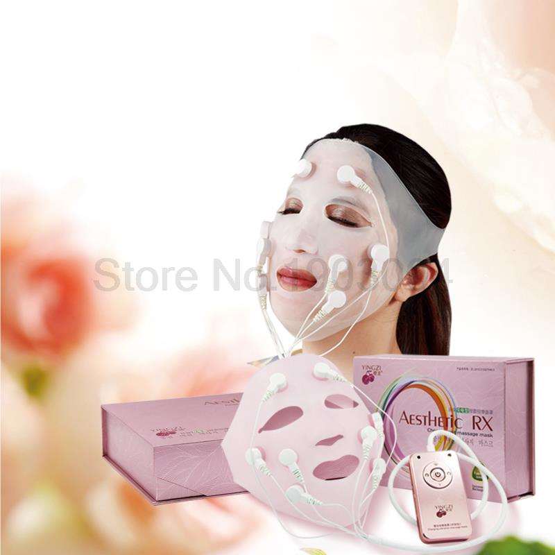 Portable Edible grade silica gel charging Mask machine Beauty Vibration massage Remove wrinkles Restore skin luster