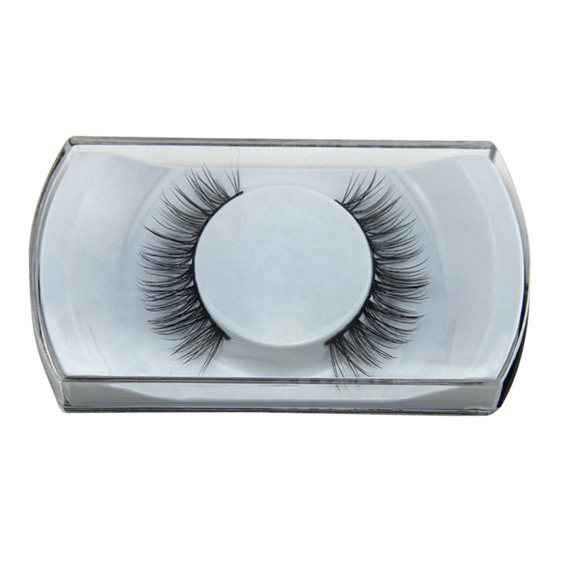 1Pair Fashion Bushy Cross False Eyelashes Handmade Mink Hair Natural Thick Eye Makeup Extention Eye Lashes Long Eyelashes