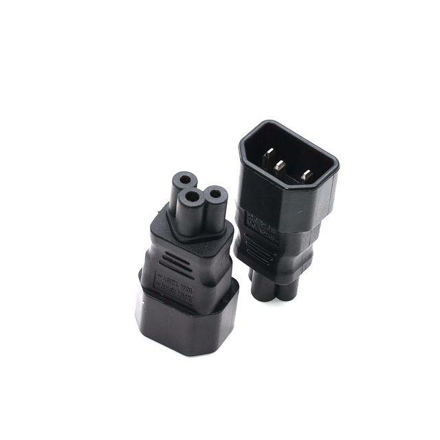 Профессиональный адаптер PDU IEC 320 C14 к C5, адаптер C5 к C14 AC, кабели питания C13 заменяются на кабель питания C5