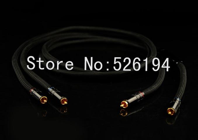 Livraison gratuite paire Transparent Musiclink super câble d'interconnexion avec plaqué or RCA Plug