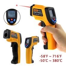-50 to 380 C Digital Infrared Thermometer Gun Laser Temperature Gun Pyrometer Aquarium Emissivity Adjustable Temperature Meter