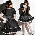 free shipping Rozen Maiden Sweet Lolita Lace Princess Dresses Maid Outfit Cosplay Costumes