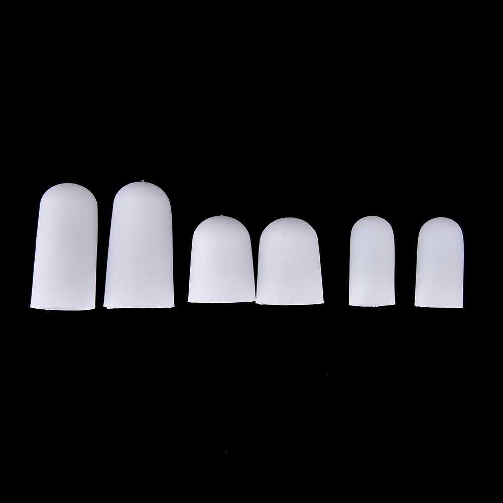 1Pair Bianco Piede Calli Blister Remover Gel Tubo Fasciatura Finger & Toe Protezioni di Protezione Del Piede Del