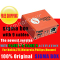 100% original sigma box +Pack 1 +Pack 2 activation +9cables for t MTK-based Motorola Alcatel Huawei ZTE and Lenovo free shipping