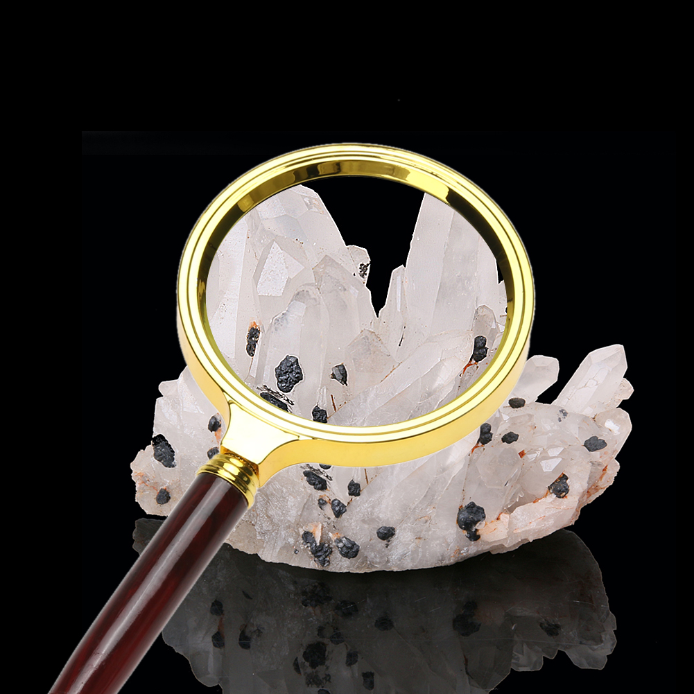 1pc 60mm 10X Magnifying Glass Portable Handheld Magnifier for Jewelry Newspaper Book Reading High Definition Eye Loupe Glass magnifying glass price in pakistan