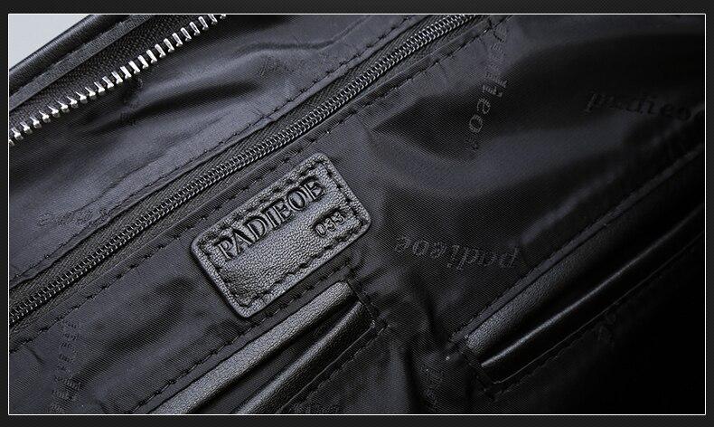 Padieoe maleta de negócios genuíno bolsa de
