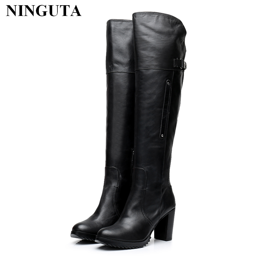High quality genuine leather thigh high boots women for spring autumn ladies shoes designer bootsHigh quality genuine leather thigh high boots women for spring autumn ladies shoes designer boots