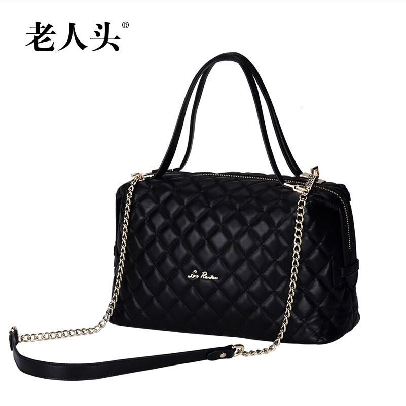 New LAORENTOU famous brands genuine leather women bag fashion quality Sheepskin bag black women handbag Shoulder messenger Bags