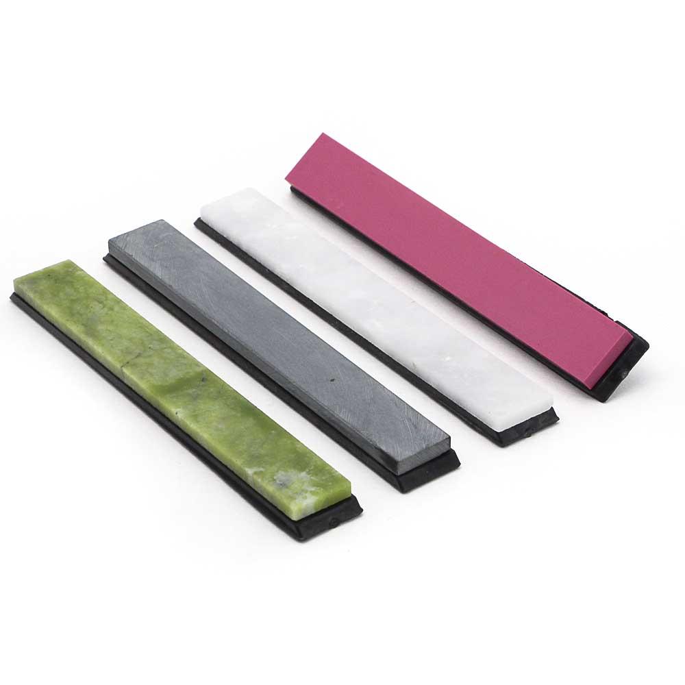 цена на 4pcs Natural sharpening stone sets 3000~10000# mess grindstone super fine sharpening stone 150*20*5mm for knives razor YS028