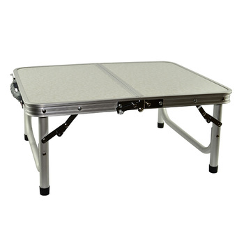H Lightweight Aluminum Folding Camping Table with Handle Laptop Bed Desk Portable Adjustable Outdoor Table BBQ Simple Waterproof