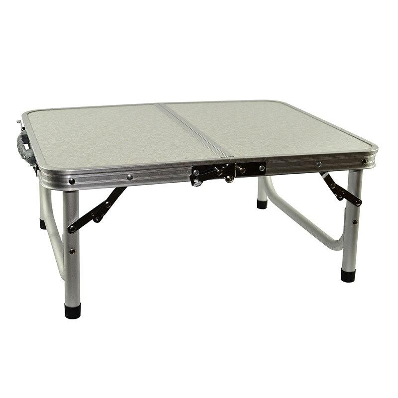 H Table de Camping pliante en aluminium léger avec poignée Table d'ordinateur Portable Table de bureau Portable réglable en plein air barbecue Simple étanche