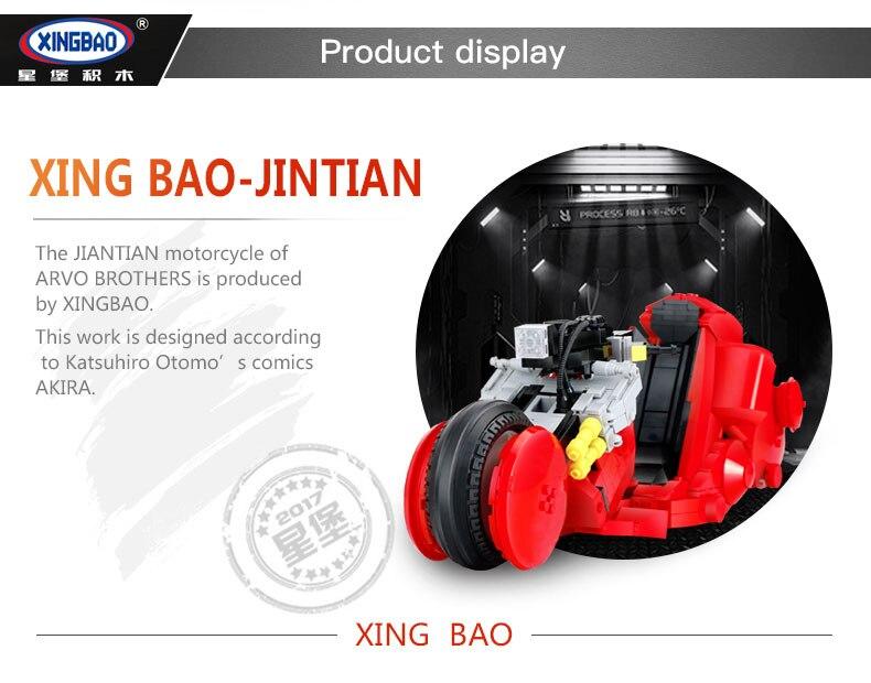 XINGBAO XB-03001 Jintian Motorcycle Building Block 45