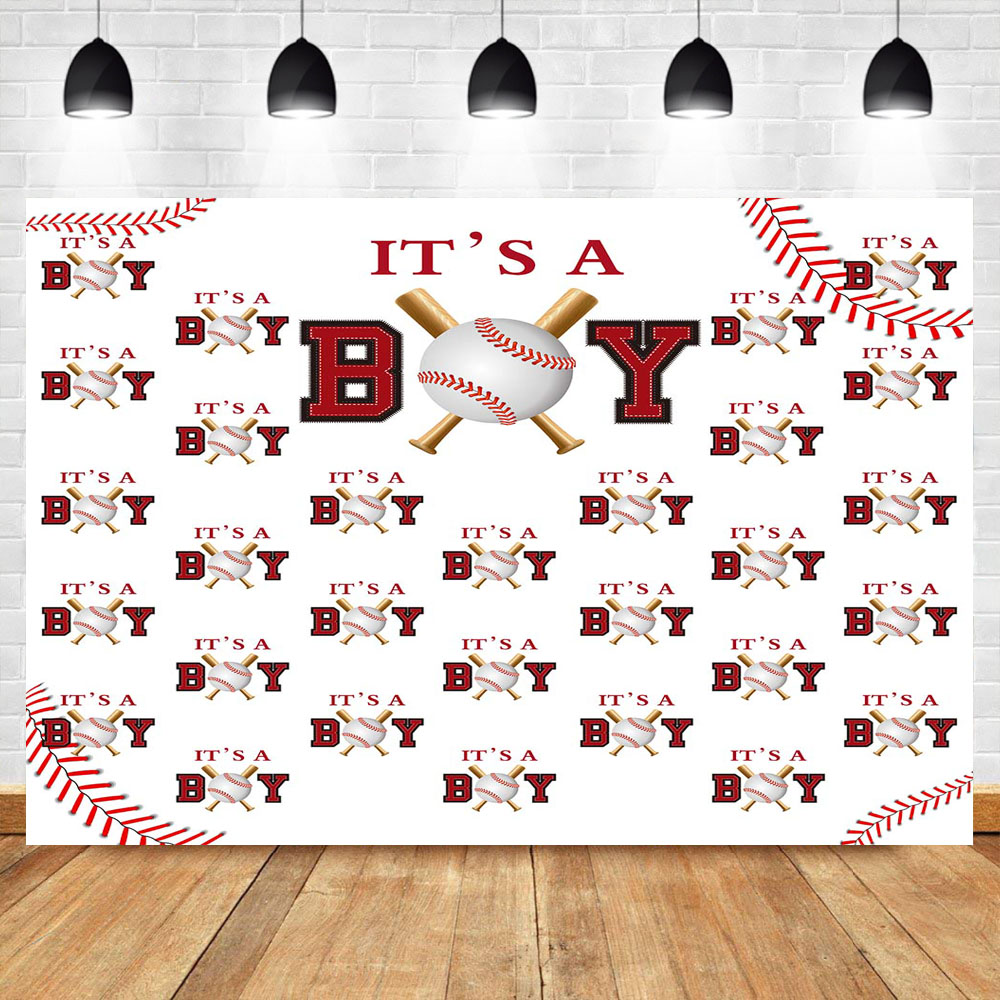 NeoBack Baby Shower Gender reveal Photography Backdrops It 39 s A Boy Baseball Sports Step and Repeat Photography Background in Background from Consumer Electronics