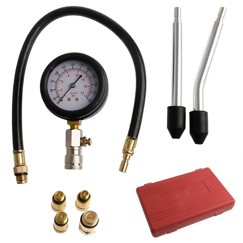 Prix pour 1 PC De Voiture De Compression Vide Testeurs Portable Moteur Jauge de Pression Cylindre Compression Tester Outil De Diagnostic Kit