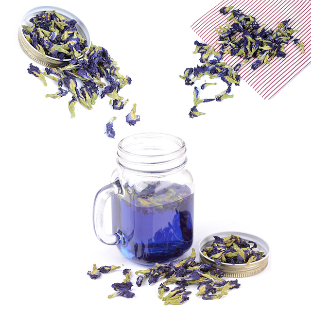 100 г/упак. Clitoria Terna чай. голубой горох бабочки чай. сушеный Clitoria kordofan горох цветок. Таиланд. игрушка