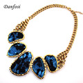 Hot Sell Chains Bib Collars Choker Necklace Women Vintage Jewelry With Acrylic Pendants N613