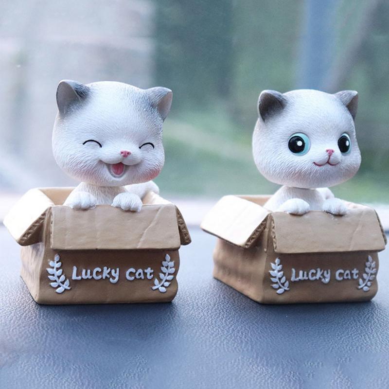 Innovative Car Home Decoration Cute Cat Shaking Head Supplies Interior Cartoon Ornaments