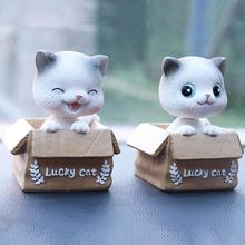 Innovative Car Home Decoration Cute Cat Shaking Head Car Supplies Cute Interior Cartoon Ornaments недорого
