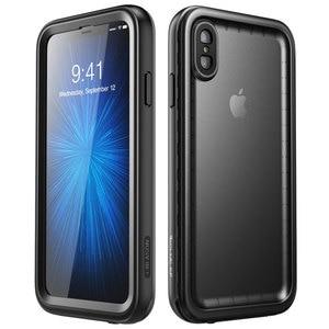 Image 2 - Para iphone Xs Max Case 6,5 pulgadas i blason Aegis impermeable de cuerpo completo rugoso funda protectora con Protector de pantalla incorporado