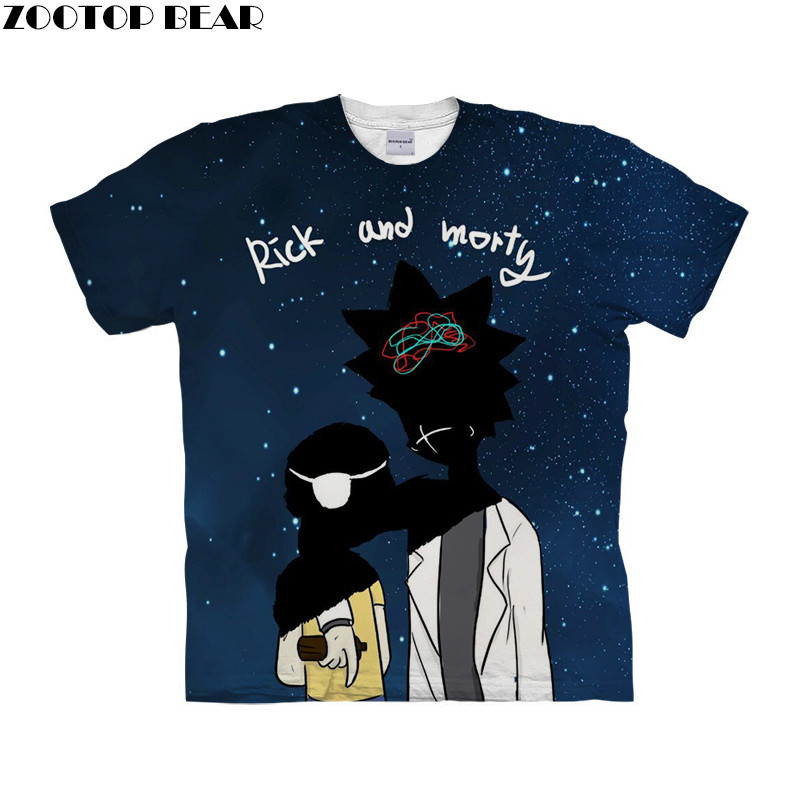 Star Men T Shirt Quick Dry Male Shirts rick and morty 3D Printed Cartoon Fitness Mens Tee Breathable Summer Casual ZOOTOPBEAR
